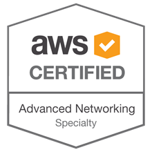 AWS Badge - Antonio Feijao - AWS Certified Advanced Networking - Specialty certificate